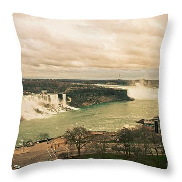 Throw Pillow featuring the photograph Niagara Falls by Mary Machare