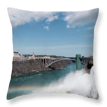 Niagara Falls New York Throw Pillow