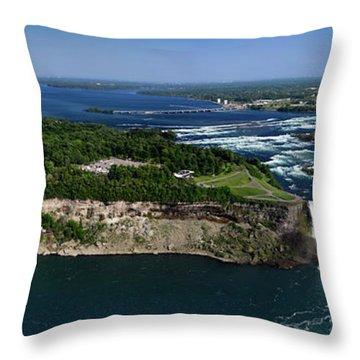 Niagara Falls Throw Pillow by Oleksiy Maksymenko