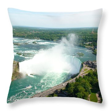 Throw Pillow featuring the photograph Niagara Falls Ontario by Charles Kraus
