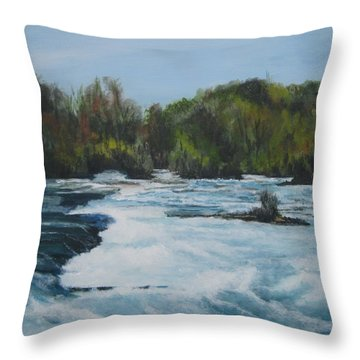 Niagra Rapids Throw Pillow