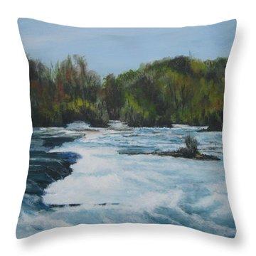 Niagra Rapids Throw Pillow