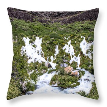 Niagra Springs Idaho Journey Landscape Photography By Kaylyn Franks  Throw Pillow