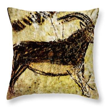Niaux Goat Throw Pillow