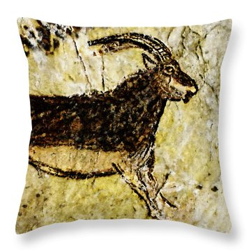 Niaux Goat Throw Pillow
