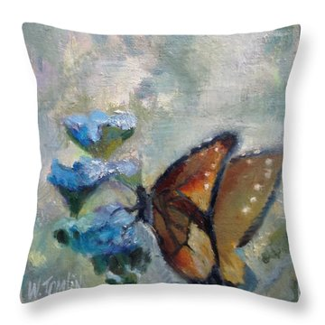 Nibbling Nectar Throw Pillow