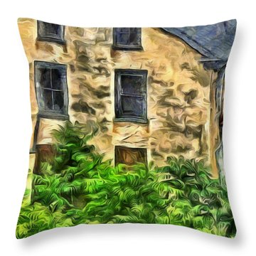 Throw Pillow featuring the mixed media Niccolo by Trish Tritz