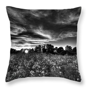 Nice And Cloudy At Sunset Throw Pillow