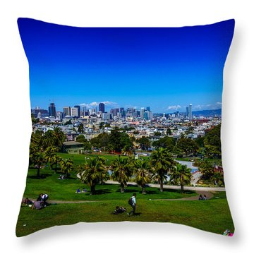 Nice Day At The Park Throw Pillow