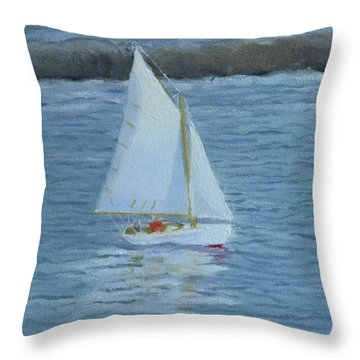 Nice Day For A Sail Throw Pillow