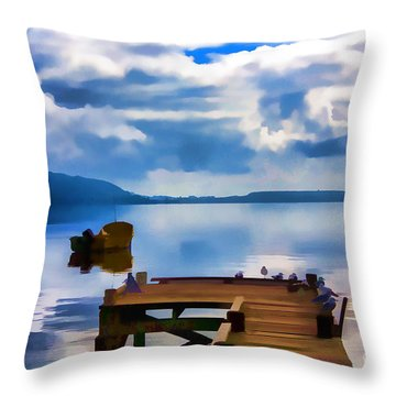 Nice Dock Throw Pillow
