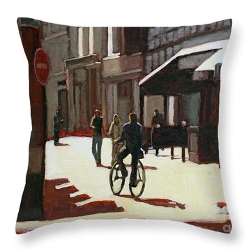 Nice Rue Throw Pillow