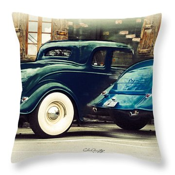 Throw Pillow featuring the photograph Nice Wheels by Chris Armytage