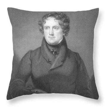Nicholas Biddle (1786-1844) Throw Pillow by Granger