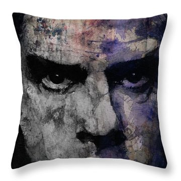 Nick Cave Retro Throw Pillow by Paul Lovering