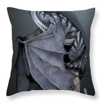 Nickel Dragon Throw Pillow