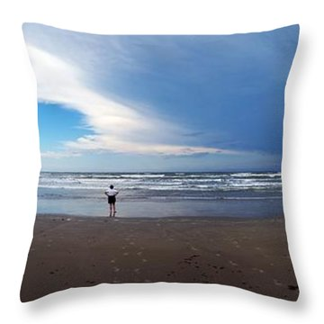 Nicki At Port Aransas Throw Pillow