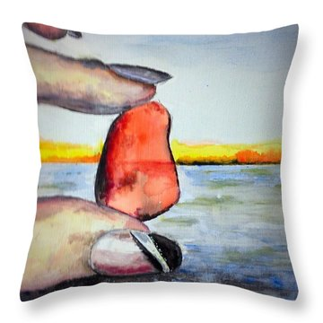 Nickie's Red Throw Pillow