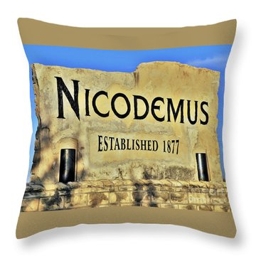 Nicodemus, 1877 Throw Pillow