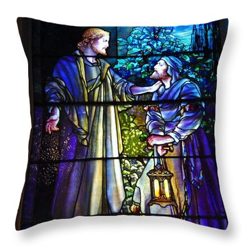Nicodemus Came To Him At Night Throw Pillow by Pg Reproductions