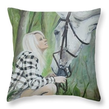 Nicole And Cellie Throw Pillow
