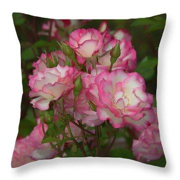 Nicole Roses Throw Pillow