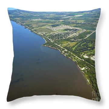 Nicolet Drive Throw Pillow by Bill Lang