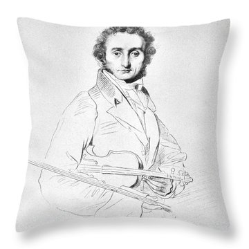 Nicolo Paganini (1782-1840) Throw Pillow by Granger