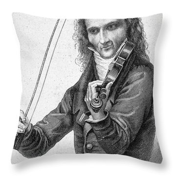 Nicolo Paganini Throw Pillow