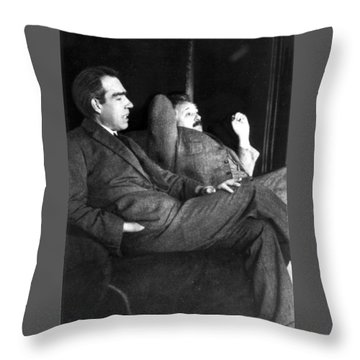 Niels Bohr And Albert Einstein Throw Pillow