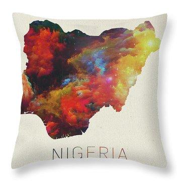 Nigeria Throw Pillows