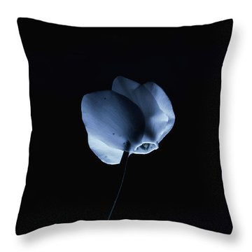 Night And A Blue Light Throw Pillow