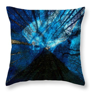 Throw Pillow featuring the painting Night Angel by David Lee Thompson