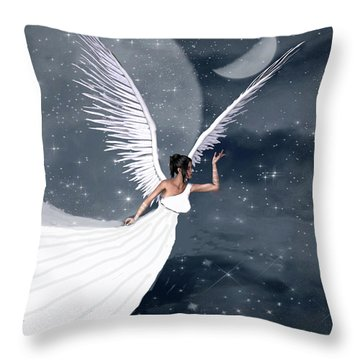 Night Angel Throw Pillow