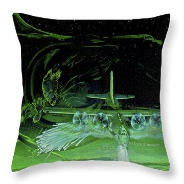 Night Angels Throw Pillow by Todd Krasovetz