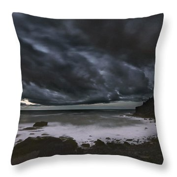 Night At Boulder Beach Throw Pillow