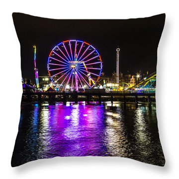 Night At The Carnival Throw Pillow