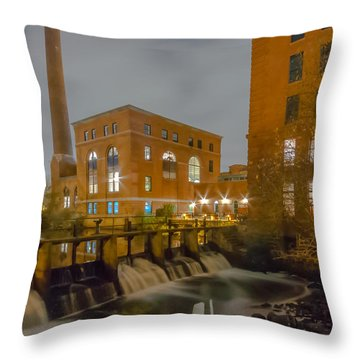 Night At The River Vertical Throw Pillow by Brian MacLean