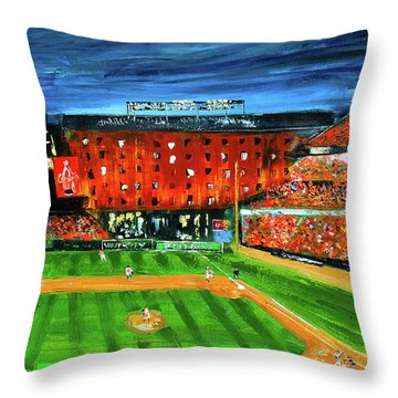 Night At The Yard Throw Pillow
