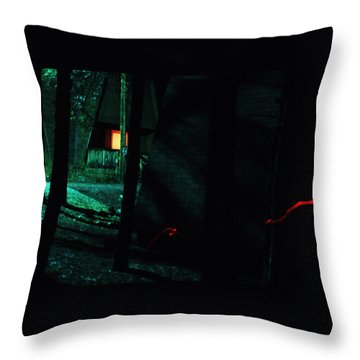 Night Aura Throw Pillow
