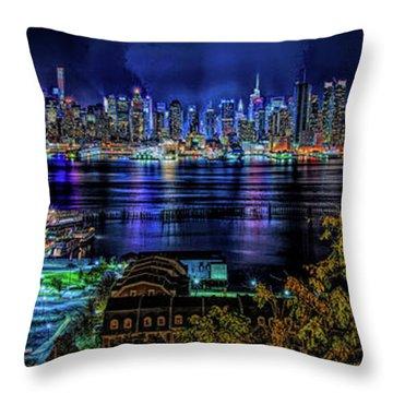 Night Beauty Throw Pillow