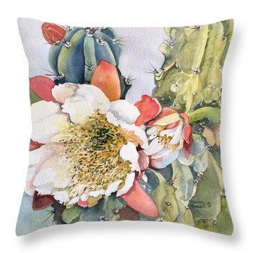 Night Bloomimg Cactus  Throw Pillow