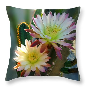 Throw Pillow featuring the photograph Night-blooming Cereus 4 by Marilyn Smith