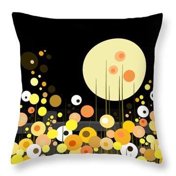 Night Blooming Flowers Throw Pillow