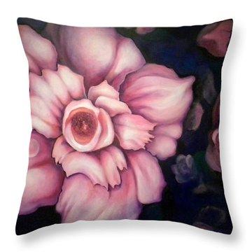 Night Blooms Throw Pillow