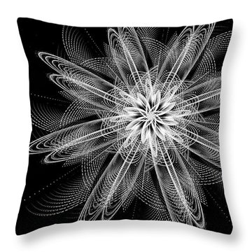Throw Pillow featuring the digital art Night Blossom by Linda Whiteside