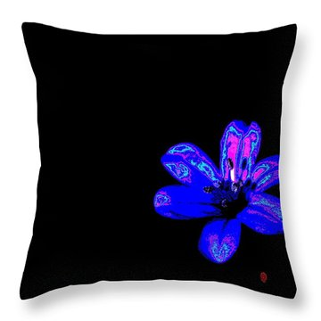 Night Blue Throw Pillow by Richard Patmore