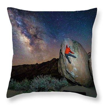 Night Bouldering Throw Pillow by Evgeny Vasenev