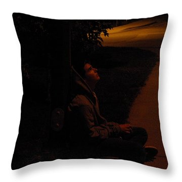 Night Boy Throw Pillow