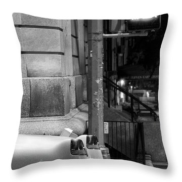 Night Caddy Throw Pillow by Dave Beckerman
